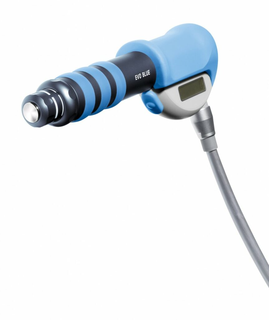 Swiss DolorClast EVO BLUE handpiece 15mm Perspective
